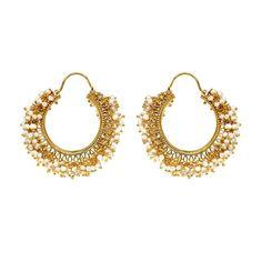 Pearl earrings by Kasturjewels - Boticca.com