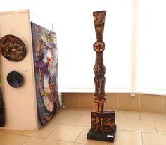Червяков А.Д. Декоративная композиция «Крещение» h 2м 25 см шамот, соли, высокий обжиг