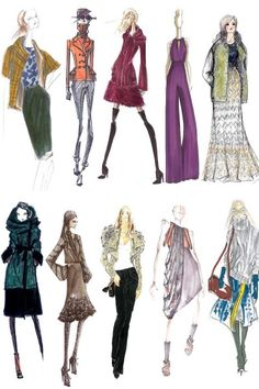 Fashion Designs Sketches on Color Sketches Copy