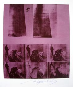 "Andy Warhol, ""Suicide - Bellevue"" hand signed Print, 1986"