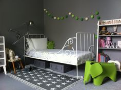 Kids room with green Eames elephant