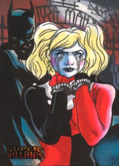 Harley Quinn Batman DC SUPERVILLAINS Artist Proof Sketch Card Carlos Cabaleiro Sketch Card Artist of the Day