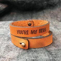 #leather #leathergift #leathergifts #leatherbracelets #menbracelets #boyfriendgift #youaremyhero https://www.etsy.com/uk/listing/570359783/christmas-gift-for-men-leather-bracelet?ref=shop_home_feat_3