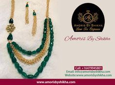 Women Who Love To Wear Jewellery Here Amoris By Shikha Presents 'Necklace' Which Can Make A Wonderful Way To Bring Excitement In Their Outfits & To Make Them More Attractive Than They Are . To Place Your Order : Call: +1 6479945801 Email: info@amorisbyshikha.com  web: http://amorisbyshikha.com/