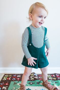 Forest Green Shorts with Suspender Straps by EWMcCall on Etsy