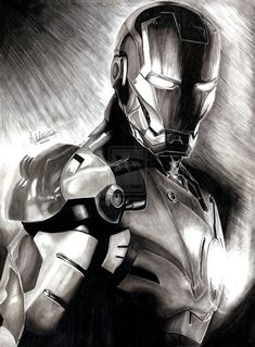 Iron Man by *Anthony-Woods