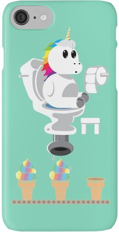 'Rainbow Unicorn Ice Cream' iPhone Case & Cover by DatLonelyTurtle - Unicorn - Phone Cases Apple Iphone 6, Iphone Cover, Iphone 7 Plus, Case Iphone 6s, Samsung Cases, Cute Phone Cases, Diy Phone Case, Mobile Phone Cases, Rainbow Unicorn