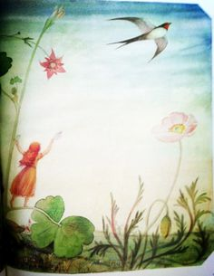 Thumbelina by Hans Christian Andersen illustration