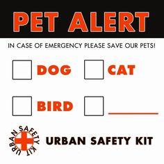 Pet Emergency Alert, 2 Exterior Stickers. Reflective, Sticker, Waterproof…