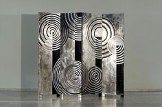 Art Deco room divider in the style of Jean Dunand by Atelier Algier