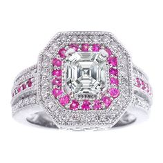 Halo Diamonds Pink