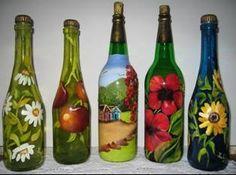 botellas pintadas - Buscar con Google