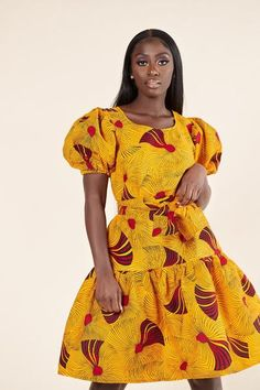 Here at Grass-fields we have an awesome range of African dress designs. Whether you're after an African print maxi or midi dress, we've got something for you. African Dresses For Women, African Print Dresses, African Print Fashion, African Attire, African Prints, African Fashion Dresses, Fashion Outfits, Modest Wear, Ankara Dress