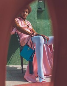 Publication: Porter Magazine Fall 2017 Model: Karly Loyce Photographer: Emma Tempest Fashion Editor: Maya Zepinic Hair: Ali Pirzadeh Make Up: Janeen Witherspoon Editorial Photography, Fashion Photography, Inspiring Photography, Prada, Fancy Gowns, How To Pose, Pretty Pastel, Fashion Models, Fashion Mag
