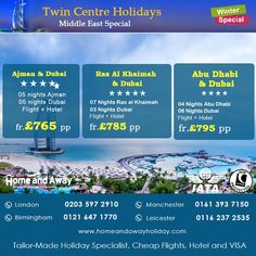 Explore 2 Cities for the Price of 1 with Our #winter Special #MiddleEast Twin…