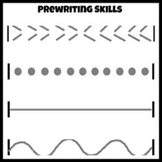 Prewriting Skills- fun to practice in snowy weather-- or with a free printable from ready-set-read