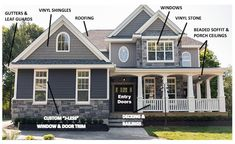 24 Ideas Exterior Paint Colors For House With Stone Grey Vinyl Siding House Paint Exterior, Exterior Siding, Exterior Paint Colors, Exterior House Colors, Paint Colors For Home, Grey Siding House, Certainteed Siding, Siding Colors For Houses, Gray Siding