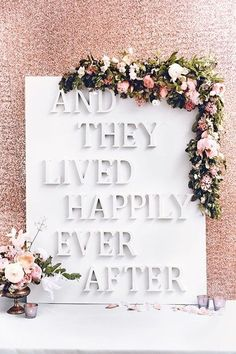 DIY Wedding Reception Sign Photo Backdrop (BridesMagazine.co.uk)