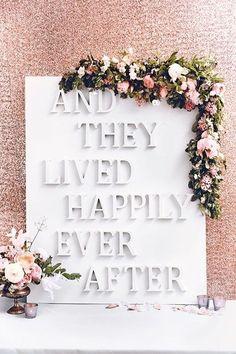 DIY Wedding Reception Sign Photo Backdrop (BridesMagazine.co.uk)