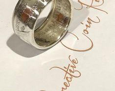 Handmade morgan silver dollar coin ring silver Men's ring anniversary gift Silver Dollar Coin, Morgan Silver Dollar, Mens Rings Etsy, Coin Art, Coin Ring, Mens Silver Rings, Skull Jewelry, Gemstone Rings, Rings For Men