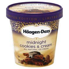 Haagen Dazs Midnight Cookies & Cream.