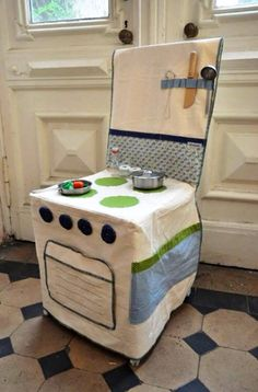 Chair cover / kids play stove