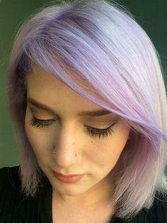 Samantha Escobar lavender pastel purple hair Eva Scrivo Salon ombre