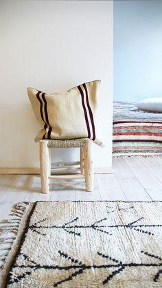 Vintage alfombra lana virgen Natural AZILAL por lacasadecoto
