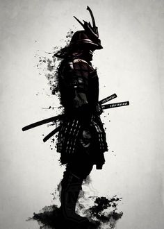 ▷ 1001 coole und effektvolle Samurai Tattoo Ideen fighter tattoo, black and white drawing, man, katana, helmet Ronin Samurai, Samurai Anime, 47 Ronin, Samurai Swords Katana, Samurai Wallpaper, Bushido, Arte Ninja, Tattoo Schwarz, Samurai Artwork