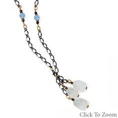 Two Tone Blue Crush Fashion Necklace