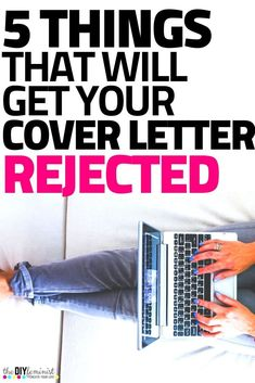 Avoid having a bad cover letter by fixing these 5 common cover letter mistakes! You don't want to miss these professional career tips! Great Cover Letters, Cover Letter Tips, Writing A Cover Letter, Cover Letter For Resume, Resume Writing, Writing Tips, Effective Cover Letter, High Paying Careers