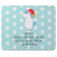 Mauspad Druck Unicorn Weihnachtsmann mit Spruch aus Naturkautschuk  black - Das Original von Mr. & Mrs. Panda.  Ein wunderschönes Mouse Pad der Marke Mr. & Mrs. Panda. Alle Motive werden liebevoll gestaltet und in unserer Manufaktur in Norddeutschland per Hand auf die Mouse Pads aufgebracht.    Über unser Motiv Unicorn Weihnachtsmann mit Spruch  Das Weihnachtsmann-Einhorn ist viel besser als jeder aufwendig gestaltete Wunschzettel. Einfach dem Partner oder Freunden schenken und schon kennen…
