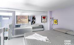 L'appartamento di 63 mq è diventato più luminoso e fruibile. Grazie ai contrasti cromatici soft e soprattutto ai tratti caratterizzanti del nuovo lay-out: tagli obliqui e nicchie ben sfruttate, che hanno permesso di recuperare spazio.