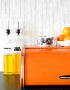 I want that bread box. What an orange.