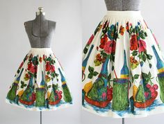RESERVED.... Vintage 1950s Skirt / 50s by TuesdayRoseVintage