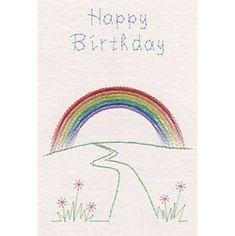 Stitching Cards Rainbow