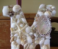 DIY Seashell Covered letters
