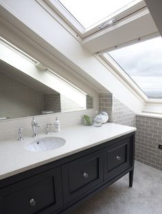 Houzz :: 11 tips for Building a Bathroom in the Attic :: Bathroom by Wall Morris Design