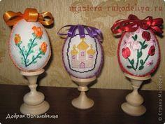 Мастер-класс по оформлению вышивки: Пасхальное Яйцо