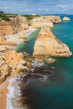Coastline, Praia da Marinha, Algarve, Portugal by Peter Adams Vacation Destinations, Dream Vacations, Vacation Spots, Australia Tourism, Portuguese Culture, Spain And Portugal, Wonderful Places, Strand, Wonders Of The World
