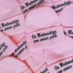 On Wednesdays We Wear Pink Beanie  - Mean Girls | Wild Daisy