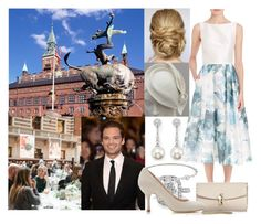 """""""Crossover: Attending dinner held in honor of the marriage of Prince Carl-Philip of Sweden and Princess Louise of Denmark by the Mayor at City Hall"""" by alexandraofwales ❤ liked on Polyvore featuring TARA Pearls, Theia, Zoe, Sebastian Professional and Dolce&Gabbana"""
