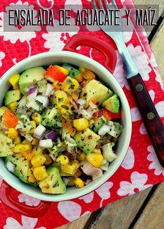 ensalada de aguacate y maíz 01 by rosiletmejia, via Flickr