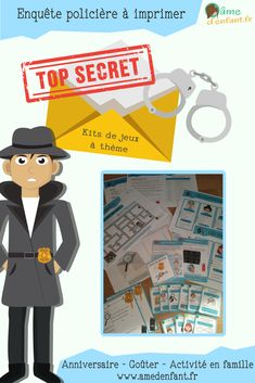 enquête à imprimer sur le thème détective TOP SECRET Spy Birthday Parties, Spy Party, Camping Activities, Activities For Kids, Photo Booth Anniversaire, Breakout Edu, Day Camp, Mission Impossible, Cycle 3