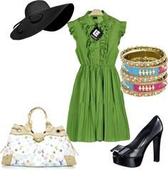 summer dress, created by nicole-boyce on Polyvore