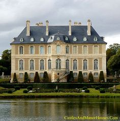 Château de Vendeuvre, Vendeuvre, near to Lisieux in Normandy, France... www.castlesandmanorhouses.com ... The Château de Vendeuvre is a typical Norman country house. It was built between 1750 and 1752. The château is famous for its eighteenth-century interiors. Formal gardens have been created by the present Count of Vendeuvre with a strictly symmetrical classical lay-out.