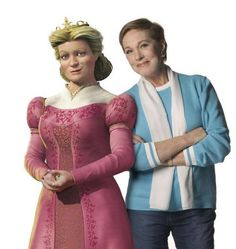 Fun Julie Andrews w/ her Queen character from Shrek