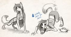 """""""Monster Falls sketches from the stream~ Wendy is a ferocious beast…. look at that fierce werewolf…. Monster Falls, Gravity Falls Fan Art, Werewolf Art, Dipper And Mabel, Reverse Falls, Fantasy Creatures, Furry Art, Funny Animals, Funny Pictures"""