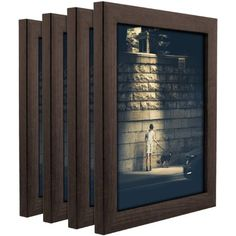 Craig Frames Contemporary Brazilian Walnut Picture Frame, Set of 4, Brown