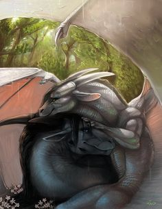 Creative Concept Art by Rajewel I love these sweet dragons.